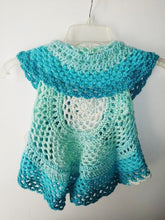 Load image into Gallery viewer, Girls Ring Around The Rosie Vest Size 4T Cream Teals Faerie Cake Circle Vest