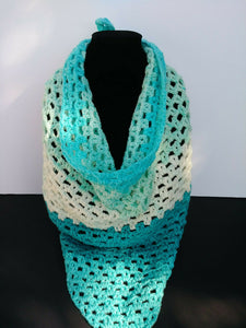 Triangle Scarf Shawl Blues & White Faerie Cake Women's Accessories