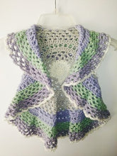 Load image into Gallery viewer, Girls Ring Around The Rosie Vest Size 4T Lavender Sage Gray Off White