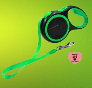 Retractable Superflex Leash Lead Neon Green