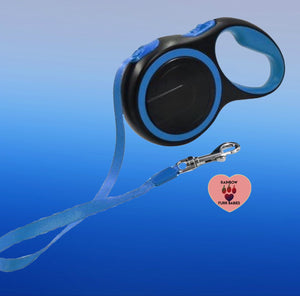 Retractable Superflex Leash Ocean Blue