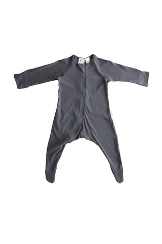 100% Certified Organic Cotton Growsuit - Charcoal