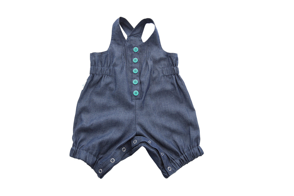 Playsuit - Denim/Green
