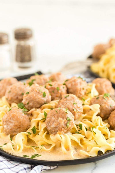 These crockpot Swedish meatballs are the ultimate easy comfort food that your family will love for dinner! A rich, flavorful, creamy, homemade sauce comes together from scratch with a handful of pantry staples to create this hearty and delicious meal