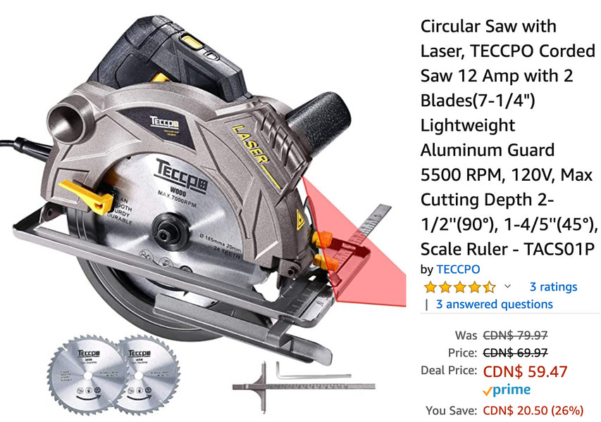 Amazon Canada Deals: Save 26% on Circular Saw with Laser + 34% on Instant Pot Ceramic Coated Inner Cooking Pot + 29% on Pyrex 18 Piece Food Storage Set + More Deals