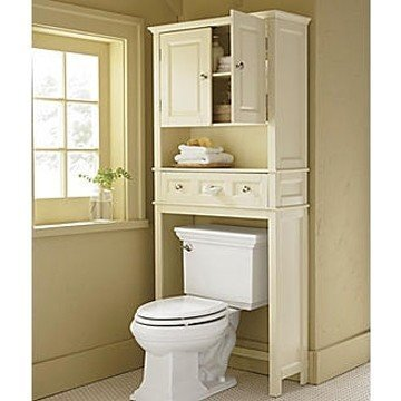 Cute White Over The Toilet Storage