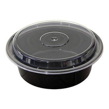 Load image into Gallery viewer, Shop for tiger chef round meal prep plastic bowl portion control bento box food containers with leakproof lids microwave freezer safe reusable bpa free 32 ounce 100 pack 100 sets of utensils included