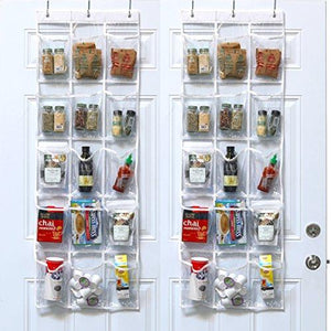 - Simplehouseware Crystal Clear Over The Door Hanging Pantry Organizer (52  X 18 )