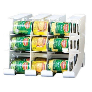 Select nice fifo can tracker stores 54 cans rotates first in first out canned goods organizer for cupboard pantry and cabinet food storage organize your kitchen made in usa