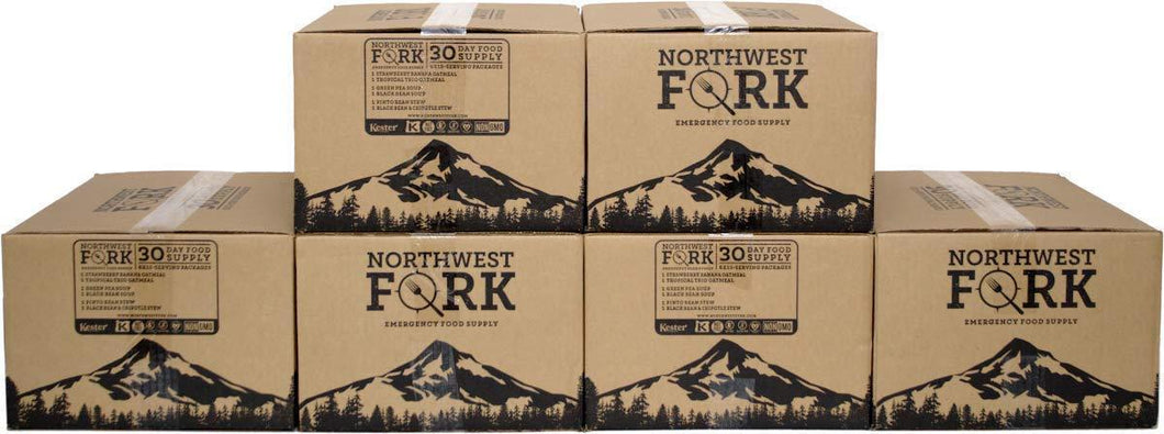 On amazon northwest fork gluten free 6 month emergency food supply kosher non gmo vegan 10 year shelf life 6 x 90 servings