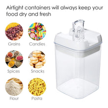 Load image into Gallery viewer, Shop here airtight food storage containers vtopmart 7 pieces bpa free plastic cereal containers with easy lock lids for kitchen pantry organization and storage include 24 free chalkboard labels and 1 marker