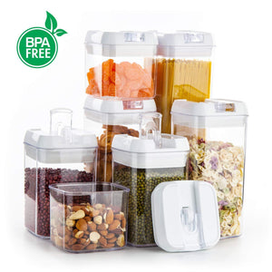 Shop for airtight food storage containers vtopmart 7 pieces bpa free plastic cereal containers with easy lock lids for kitchen pantry organization and storage include 24 free chalkboard labels and 1 marker