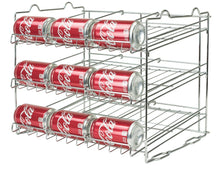 Load image into Gallery viewer, Organize with sorbus can organizer rack 3 tier stackable can tracker pantry cabinet organizer holds up to 36 cans great storage for canned foods drinks and more in kitchen cupboard pantry