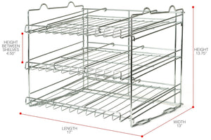 Order now sorbus can organizer rack 3 tier stackable can tracker pantry cabinet organizer holds up to 36 cans great storage for canned foods drinks and more in kitchen cupboard pantry