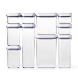 Top oxo good grips 10 piece airtight food storage pop container value set