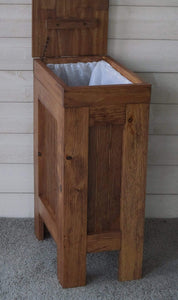 Select nice buffalowood shop rustic wood trash bin kitchen trash can wood trash can dog food storage container 13 gallon recycle bin early american stain with metal knob