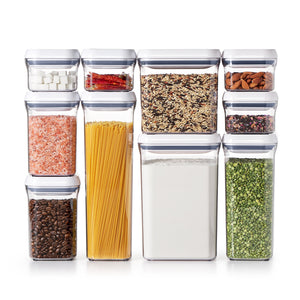 Storage organizer oxo good grips 10 piece airtight food storage pop container value set