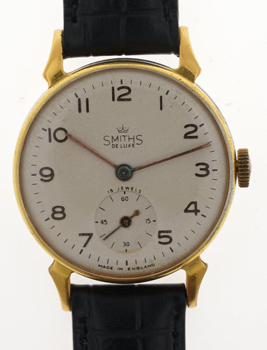 SMITHS EARLY HORN LUG WRISTWATCH A304 c1952 SERVICED MINGOLD GP CASE