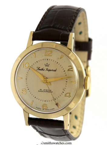 IMPERIAL MADE IN ENGLAND SMITHS GOLD GENTS WRISTWATCH MODEL I 507