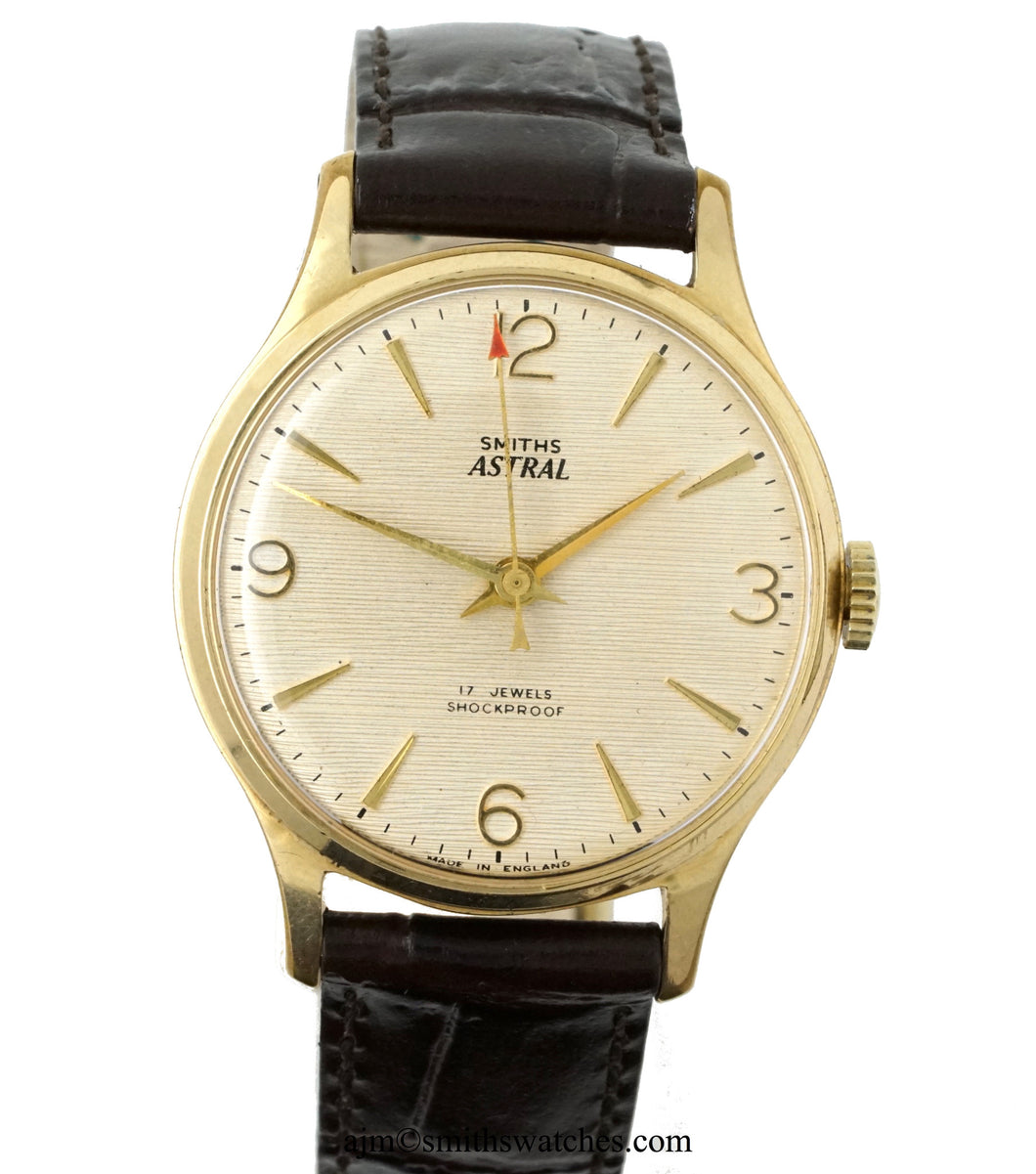 ASTRAL SMITHS 17 JEWEL GOLD PLATED ENGLISH WRISTWATCH SERVICED 3