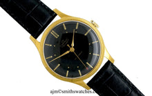 DELUXE SMITHS BLACK DIAL GENTS ENGLISH WRISTWATCH C 1955 MODEL A358 2