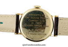 DELUXE MODEL A 501 1955 AUSTIN MOTOR COMPANY 9 CT GOLD ENGLISH WRISTWATCH BOXED PAPERS