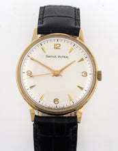 ASTRAL SMITHS MADE IN ENGLAND SOLID 9CT GOLD VINTAGE GENTS WRISTWATCH BRITISH RAIL BOXED