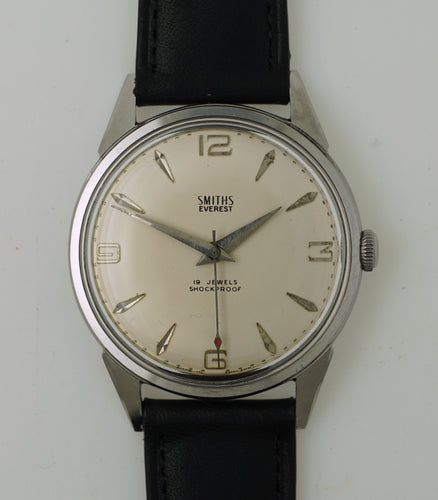 EVEREST 19 JEWEL STAINLESS STEEL ENGLISH WRISTWATCH 1960's EXCELLENT FULLY OVERHAULED 3
