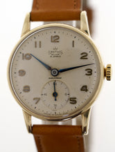 DELUXE SMITHS 9CT GOLD BRITISH RAIL WRISTWATCH IN GOOD CONDITION c 1961