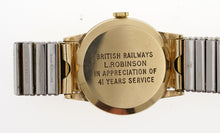 SMITHS BRITISH RAIL 9CT GOLD LONG SERVICE NEAR MINT WRISTWATCH WITH BOX