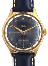 ASTRAL SMITHS VINTAGE ENGINEERS WRISTWATCH C 1957 WITH SUPERB ANODISED BLUE DIAL FINISH