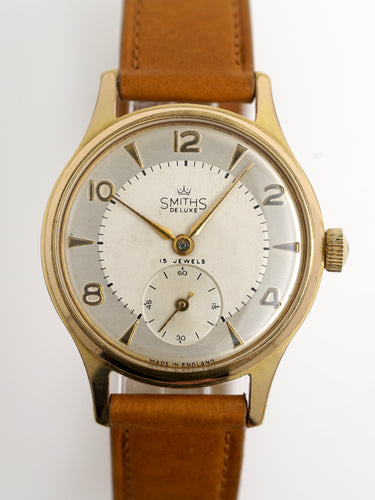 DELUXE SMITHS GOLD PLATED WRISTWATCH IN EXCELLENT CONDITION c1953 MODEL A417