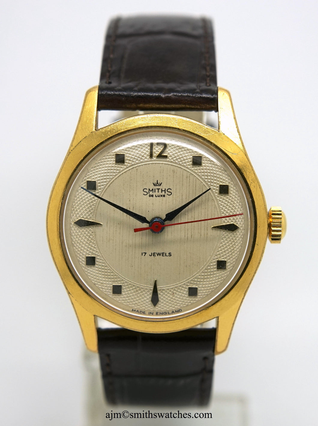 DELUXE SMITHS GENTS DUSTPROOF WATCH C 1958 FULLY SERVICED AB377