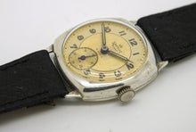 DELUXE SMITHS SILVER CUSHION CASE 1960'S ENGLISH ALCOA WRISTWATCH