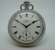DELUXE EARLY ENGLISH SMITHS POCKET WATCH C 1952 OPEN FACE 15 JEWEL