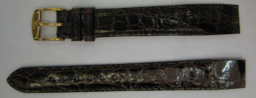 STRAP GENUINE FLAT, UNPADDED STITCHED CROCODILE - NEW OLD STOCK