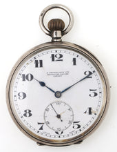 SMITHS EARLY S SMITH & SON LTD SILVER SWISS MADE POCKET WATCH