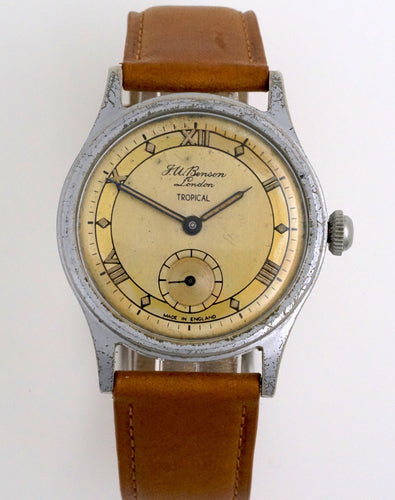 J W BENSON LONDON TROPICAL SMITHS ROMAN NUMERAL DIAL DENNISON AQUATITE CASE SMITHS C 1953 7