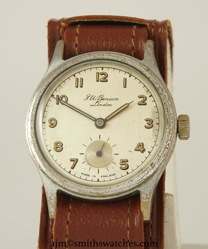 J W BENSON LONDON SMITHS EVEREST STLYE DENNISON AQUATITE CASED WRISTWATCH C 1953 2