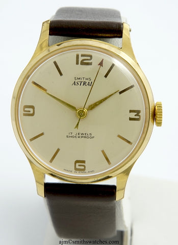 ASTRAL SMITHS 17 JEWEL GOLD PLATED ENGLISH WRISTWATCH SERVICED 2