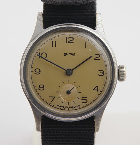 SMITHS EARLY PRE EVEREST 12-15 DENNISON AQUATITE WRISTWATCH C 1952  BASIS OF THE EVEREST MODEL.3