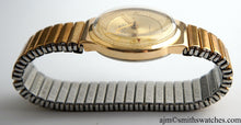 DELUXE SMITHS MADE IN ENGLAND 50'S GOLD PLATED FANCY CASED WRISTWATCH