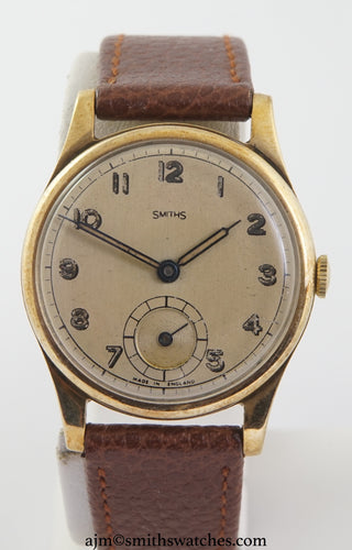 SMITHS EARLY 9CT GOLD WRISTWATCH HALLMARKED 1946/7 2