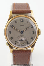SMITHS EARLY 9CT GOLD WRISTWATCH HALLMARKED 1947/8