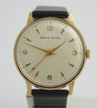 ASTRAL SMITHS MADE IN ENGLAND SOLID 9CT GOLD VINTAGE GENTS WRISTWATCH BRITISH RAIL 1969 NEAR MINT WITH BOX