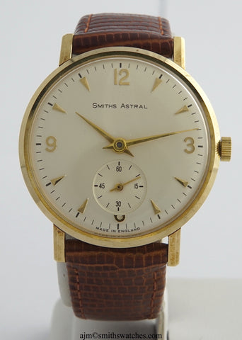 ASTRAL SMITHS 9CT GOLD MADE IN ENGLAND  WRISTWATCH NEAR MINT BOXED 1966