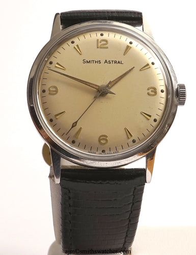 ASTRAL SMITHS STAINLESS STEEL 17 JEWEL SMITHS MADE IN ENGLAND WRISTWATCH 1960'S  2