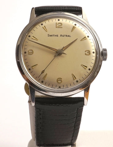 ASTRAL SMITHS STAINLESS STEEL 17 JEWEL SMITHS MADE IN ENGLAND WRISTWATCH 1960'S OVERHAULED 2