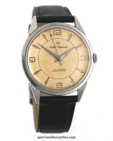 IMPERIAL ALL STAINLESS STEEL GENTS ENGLISH WRISTWATCH EARLY 1960'S FULLY OVERHAULED