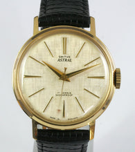 ASTRAL SMITHS ENGLISH WRISTWATCH 1961 MODEL T356 WITH LINEN FINISH DIAL FULLY SERVICED